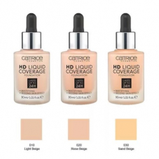 Тональная основа CatriceeHD Liquid Coverage Foundation, 30ml