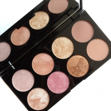 Тени Makeup Revolution Golden Sugar 2 Rose Gold Ultra Professional Blush Palette Review 8 colors