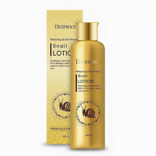 Лосьон для лица Deoproce Whitening And Anti-Wrinkle Snail Lotion, 260ml